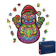 Christmas Snowman 100/200/300 Pieces Wooden Jigsaw Puzzles Kids Toy Best Gift