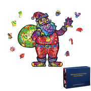 Christmas Santa Claus 100/200/300 Pieces Wooden Jigsaw Puzzles Kids Toys Gifts