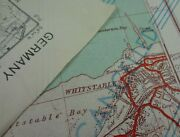 Ww2 Captured German Map Of Whitstable Kent Re-used For Invasion Of Germany