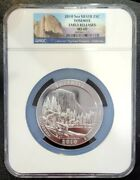 2010 Yosemite Atb 5 Oz Silver 25c Early Releases Ngc Ms69