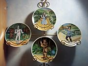 Set Of 4 Wizard Of Oz Plates Dorothy-scare Crow -tinman And Lionandnbsp 936