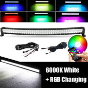 Curved 42 Inch 5d Rgb Led Light Bar Color Change Strobe Bluetooth And Wiring Kits