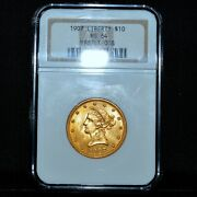 1907-p 10 Gold Liberty ✪ Ngc Ms-64 ✪ Eagle Choice Uncirculated Unc Bu ◢trusted◣