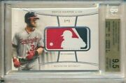 Bryce Harper 1/1 Logoman Game Used Jersey Patch 2017 Topps Diamond Icons Bgs 9.5