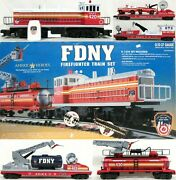 K-line K-1224 Fdny Firefighter Train Set Mp-15 Diesel Locomotive And Freight Cars
