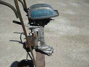Vintage Evinrude 4423 3hp Sportwin Outboard Motor For Parts Or Repair 1950 1940
