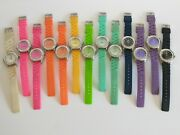 Lot Of 13 Watches By Stephanie Greenfield W/rhinestones And Silicone Bands Working