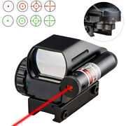 Red Green Dot Reflex Laser Sight Scope Tactical Holographic 4 Reticles 20mm Rail
