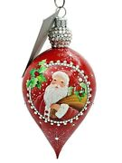 Patricia Breen Gouttelette Classic Red Drop Snowflake Christmas Holiday Ornament