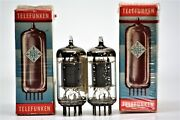Ecc83 12ax7 Tube Telefunken Germany Preamp Tubes Matched Pair Ribbed Plate Amp