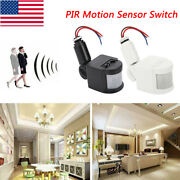 Home Led Security Pir Infrared Motion Sensor Detector Switch Wall Light 180° Us