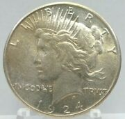 1924-s 1 Peace 90 Silver Dollar Us Coin H2140