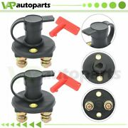 Set Of 2 12v 200amps Power Switch High Current Battery Isolator Disconnect Car