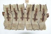 German Army Wwii Repro Kurtz 8mm Ammo Pouches Aged Reinforced Red Stripe Inve15