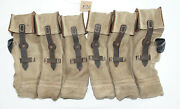 German Army Wwii Repro Kurtz 8mm Ammo Pouches Aged Reinforced Red Stripe Inve16
