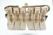 German Army Wwii Repro Kurtz 8mm Ammo Pouches Aged Reinforced Back Strap Inve18