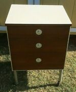 Antique Mid-century Night Stand Or Medical Cabinet Furniture Rare Raymond Loewy