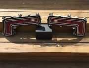 1968 Pontiac Catalina Tail Lights Pair Housing Bezels And Lenses Nice Driver