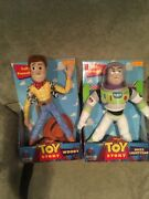 Disney Toy Story Poseable Rare Woody Doll And Buzz Lightyear. Hasbro 1996