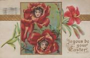 Joyous Be Your Easter Rose Greetings Posted Vintage Divided Back Post Card
