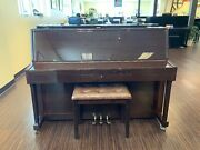 Hastings My108-d 44 Upright Piano In Polished Walnut
