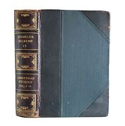 Christmas Stories By Charles Dickens Rustic Antique Part Leather Classic