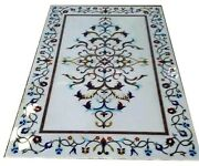 30 X 60 Inches Marble Dining Table Top Beautiful Garden Table With Marquetry Art