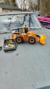 Vintage 1986 New Bright Caterpillar Cat 992 Front Loader Wired Remote Rc Toy
