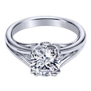 1.12 Ct Lab Grown Diamond 14k White Gold Sophisticated Anniversary Ring Size 5 6