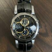 Seiko 7t82-0aj0 Wired Discontinued Gold And Silver 1 100 Chronograph Watch 581
