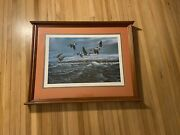 Mounted And Framed Terry Redlin White Caps Print 265 Of 960 Limited Edition 1979