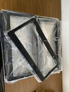 Lot Of 20 Blank Black Plastic 25 Pieces License Plate Frame Frames With Tabs 1
