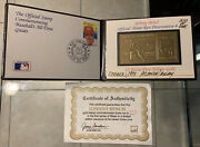 Johnny Bench 1978 Ssca 23kt Gold Stamp 1 Of 310 Reds Hof With Coa Reds Hof