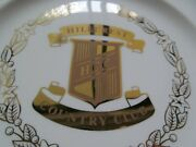 10 1/8 Colorful Plate-75th Anniversary Hillcrest C.c. 1920-1995  Stand In Box