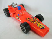 Vintage 1970and039s Gay Toys Large Red Plastic Indy Race Car 18 1/2