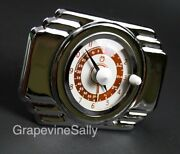 O'keefe And Merritt Vintage Stove Part Built In New Chromed Deco Style Clock Timer
