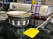 Antique And Co. Sterling Silver And Lenox Grave Sauce Cup Bowl / Spoon