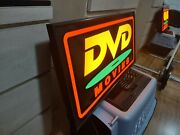 Original Dvd Video Neon Sign Movies Tv Shows Store Shop 1990and039s Retro Ad