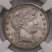 1912 Barber 25c Ngc Cac Certified Ms64 Us Mint State Graded Us Silver Quarter