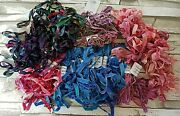 Rayon Ribbon For Ribbon Embroidery And Crafts Lot Multiple Colors Finishes