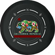Spare Tire Cover Compass Vintage California Bear Fits Jeep Many Vehicles