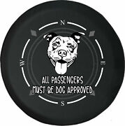 Spare Tire Cover Compass Dog Approved Cute Dog Pitbull Fits Jeep Many Vehicles