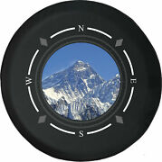 Spare Tire Cover Compass Snowy Peak Mountain Climbing Fits Jeep Many Vehicles