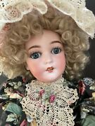 Early Antique German 24andrdquo Armand Marseille Queen Louise Bisque Head Doll