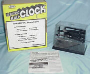 1978 Electric Arrow Rolling Steel Ball Clock Desk Novelty Timepiece  Tested