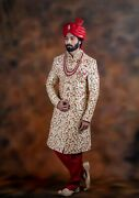 On Sale Stitched Readymade Men's Designer Indo Sherwani Free Shipping From India
