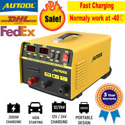 400a Portable Car Jump Cables 2 In 1 Starter Quick Battery Charger Lcd Display
