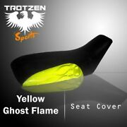 Yamaha Grizzly 660 2002-2003 Yellow Ghost Flame Atv Seat Cover