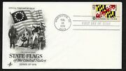 1676 13c State Flags - Maryland - 1st Stars And Stripes Cachet.- Artcraft Fdc