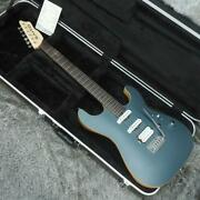 Used Saito Guitars S-622 Navy Blue Electric Guitar Free Shipping